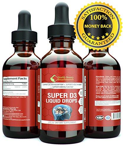 * MEGA D3 DROPS * Vitamin D Drops  Vitamin D3 5000 iu -PER SERVING- Vitamin D3 10000 iu -DAILY- Vitamin D3 Drops  SLAMS- Vitamin D3 Gummies  TOP RATED VITAMINS - Vitamin D3 For Adults - D3