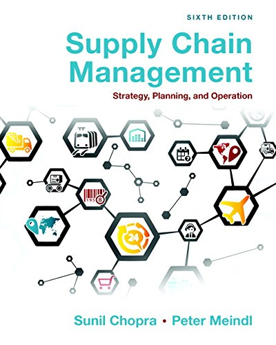 133800202 - Supply Chain Management: Strategy, Planning, and Operation (6th Edition)