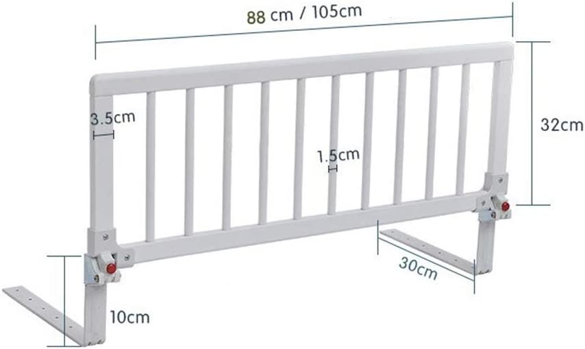 White CJXin Shelf Extra Wide Wooden Bed Rail Color : White, Size : 88 * 32CM Vertical Lifting Bed Guard Safety Protection Guard Home Use Bedroom Bed Rail