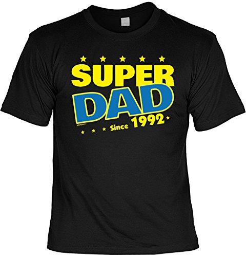 T-Shirt - Super Dad Since 1992 - lustiges Sprüche Shirt als Geschenk zum 25. Geburtstag