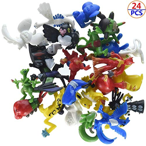 CX 24 PCS Mini Action Figures Monster Toys Set for Pokemon Game Player, Kid's Great Gifts