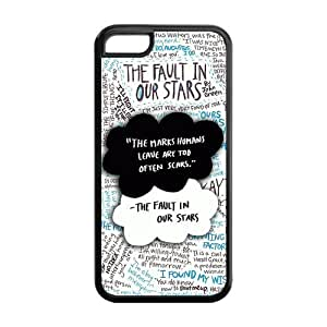 Quotes from The Fault in Our Stars Hard Rubber Cell Phone Cover Case for iPhone 5C,5C Phone Cases