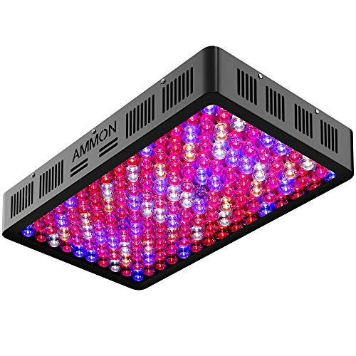 AMMON LED Grow Light 1500W Full Spectrum Reflector-Series Growing Lamp with Veg and Bloom Switch, Plant Grow Lights Kit for Indoor Plants, Hydroponic, Medicinal Plants, Greenhouse, Veg and Flower