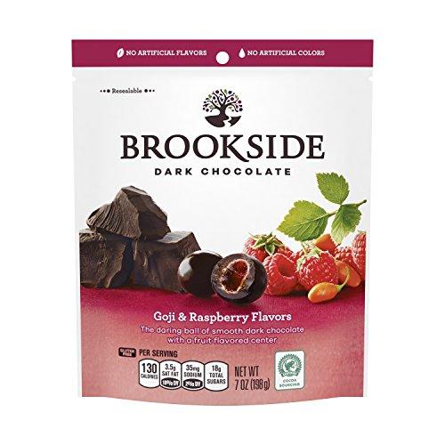 BROOKSIDE Dark Chocolate Candy, Goji & Raspberry, 7 Ounce - Blended Chocolate Candy