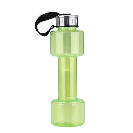 Fdit Sports - Botella de agua para gimnasio con forma de mancuerna, de gran capacidad