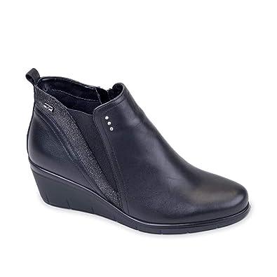 VALLEVERDE Damenschuhe Tronchetto Tronchetto Damenschuhe Nero 16166 Schuhe in Pelle Autunno ... 487efc