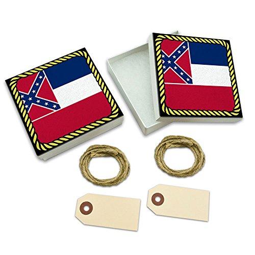 Mississippi State Flag White Gift Boxes Set of 2