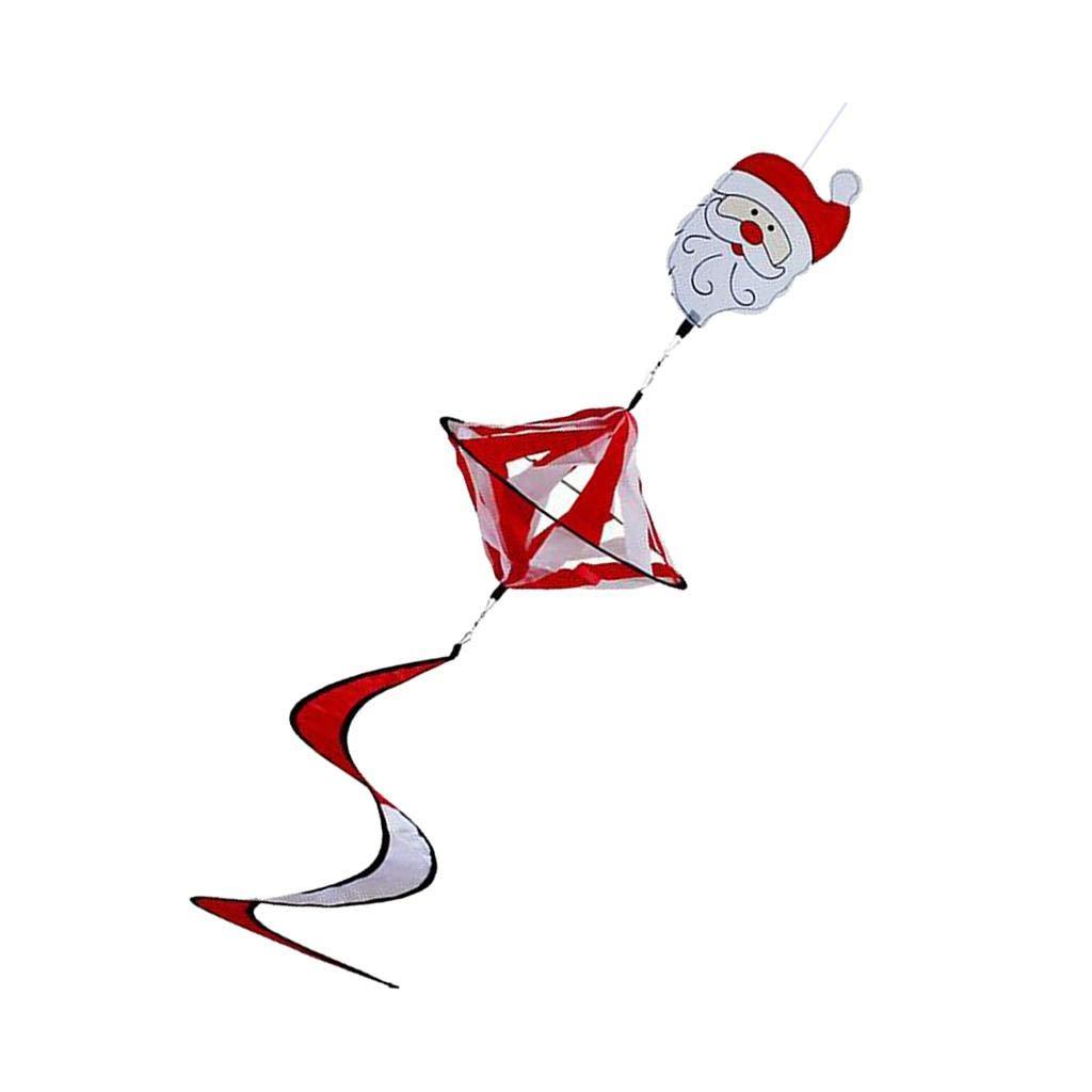 Santa Claus und Elch Design B Blesiya Bunte Windspiel Spirale f/ür Camping Weihnachten Weihnachtsmann
