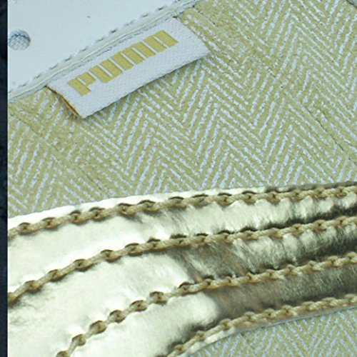 Puma Mystere Chevron Womens Leather Trainers/Shoes Beige 02Q1O