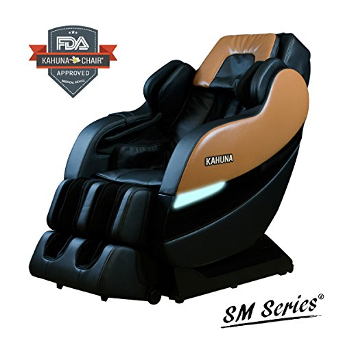 TOP PERFORMANCE KAHUNA SUPERIOR MASSAGE CHAIR WITH NEW SL-TRACK WITH 6 ROLLERS - SM-7300 BROWN/BLACK - Massager Roller Kneading