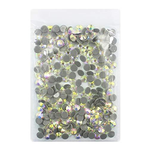 288pcs Hot Fix AB Crystals Nail Rhinestones Round Flatback Glass Gems Stones Nail Crafts Shoes Clothes 3D Nails Art Decorations (Hot Fix 6mm AB)
