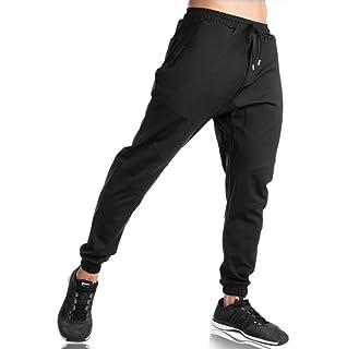 79614597acc880 EKLENTSON Men's Elasticated Fit Jogger Sweatpants Cotton Running Zip  Pockets Pants for men