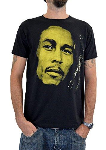 """FACES Herren T-shirt """"BOB MARLEY"""" Handserigraphie mit Wasser"""