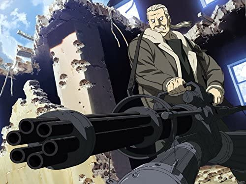 Amazon Com Sv6376 Ghost In The Shell Batou Awesome Minigun Anime Manga Art 24x18 Print Poster Posters Prints