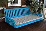 BEST PORCH FURNITURE SWING BED, 6' Swinging Daybed, Crazy Fun & Relaxing, Increases the Wow Factor for Porches & Pergolas, Outdoor Covered Terrace & Decks, Takes Patio Decor to a New Level