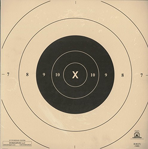 25 Yard Timed and Rapid Fire Repair Center Pistol Target Official NRA Target B-8(CT) (100 Pack) (Target Yard 25)
