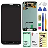 Display Touch Screen (AMOLED) Digitizer Assembly with Home Button for Samsung Galaxy S5 (SV) G900 G900A G900P G900V G900T G900R4 G900F G900H G900M(for Repair Part Replacement) (Charcoal Black)