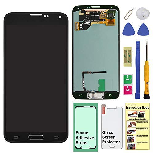 - Display Touch Screen (AMOLED) Digitizer Assembly with Home Button for Samsung Galaxy S5 (SV) G900 G900A G900P G900V G900T G900R4 G900F G900H G900M(for Repair Part Replacement) (Charcoal Black)