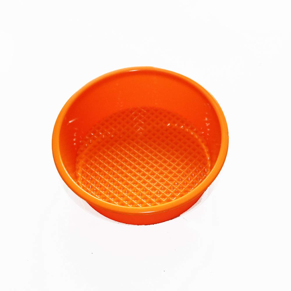 "X-Haibei Flexible 4.5"" MINI Round Cake Bread Mold Baking Pan Silicone Sandwiches Hamburgers Maker"