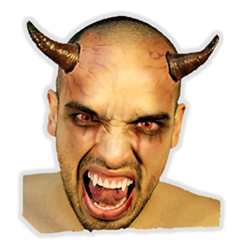 (Ghoulish Productions Buum Horns Latex Appliance Adult Scary Halloween Devil Prosthetic Kit)