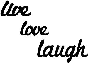 Tubibu 3 pcs Metal Live Love Laugh Wall Art Metal Wall Word Sculpture, Wall Decor Wall Art, Home Wall Decor Sign for Living Room Bedroom Bathroom Kitchen Office - Farmhouse Wall Decoration