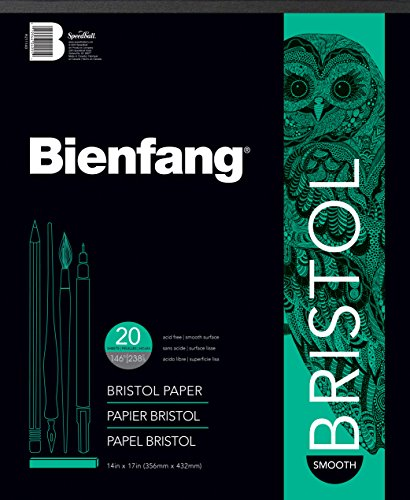Bienfang Bristol 14-Inch by 17-Inch Paper Pad, Smooth Surface, 20 Sheets by Bienfang