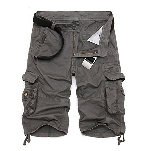 NEW Men Cargo Shorts Casual Loose Short Pants Camouflage Military Summer Style (Morph Suit Sizing)