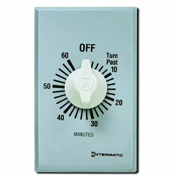 Intermatic FF60MC 60-Minute Spring Wound Countdown Wall Timer ...