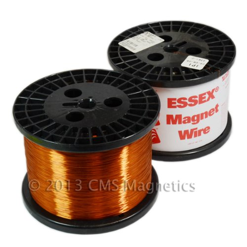 Spool Essex Enameled Magnet Wire - Essex Magnet Wire 26 AWG Enameled Heavy Build HTAIH GP/MR-200 10 LB Spool Research Industrial Applications and Personal Projects