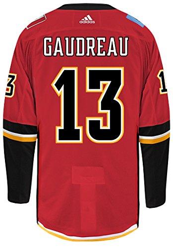 adidas Johnny Gaudreau Calgary Flames Authentic Home NHL Hockey Jersey ()