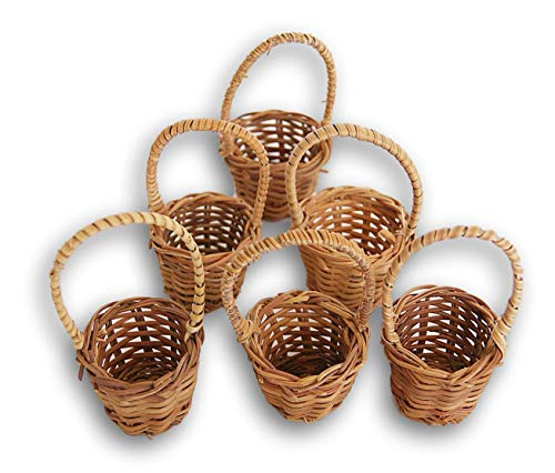 - Mini Fern Basket Set of 6 - Two Inches Each