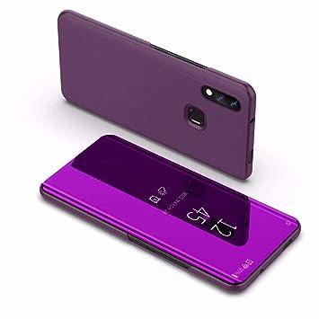 Funda® Espejo Enchapado Flip Xiaomi Mi MAX 3 (Glamour Púrpura ...