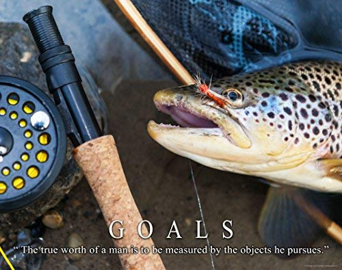 Trout Fly Fishing Motivational Poster Art Print 11×14 Reels Poles Rods Wall Decor Pictures