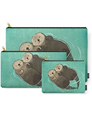 Society6 Significant Otters - Otters Holding Hands Carry-All Pouch