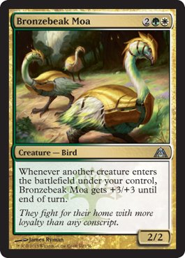 Magic: the Gathering - Bronzebeak Moa (60) - Dragon's - Stores Moa In