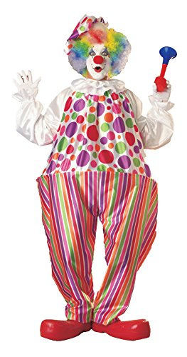 UHC Men's Harpo Hoop Clown Jumpsuit Theme Party Fancy Dress Halloween Costume