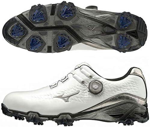[ミズノ] ゴルフシューズ メンズ スパイク GENEM 009 Boa ホワイト×シルバー 51GM1900 03 25.0cm