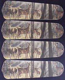 Ceiling Fan Designers 42SET-ANI-DBDH New DEER BUCK DOE HUNTING 42 Ceiling Fan BLADES ONLY