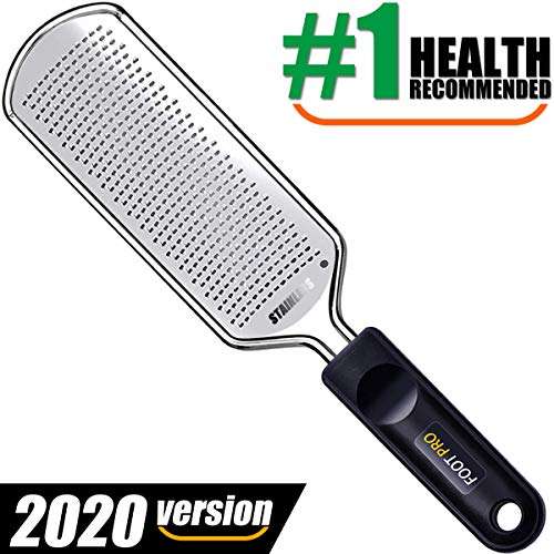 Colossal Foot File, Professional Foot Scrubber 2020 Larger Pedicure Rasp Callus Remover Foot Files For Easy Trimming Dead Skin, Callus, Foot Corn, Cracked Heels, Light-weight & Durable