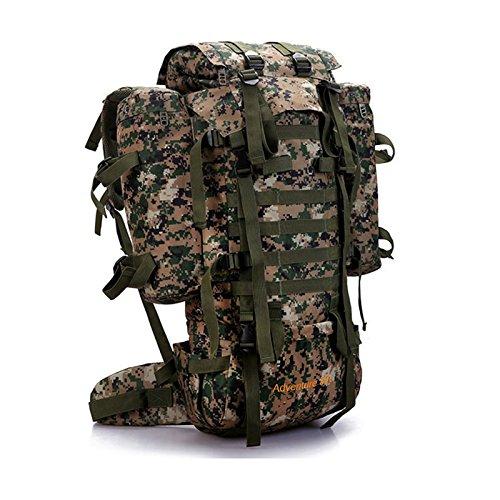 Seunota 80L アウトドア ミリタリー タクティカル カモフラージュ バッグ 大容量 メンズ レディース キャンプ ハイキング 登山 防水 旅行 バックパック  グリーン B071VYT36V
