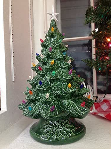 Amazon Com Vintage Style Ceramic Christmas Tree Medium