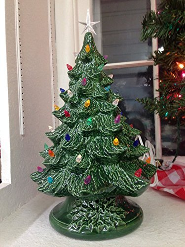 Amazon Com Vintage Style Ceramic Christmas Tree Medium Ceramic