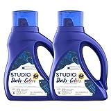 Tide Studio Liquid Laundry Detergent, Darks & Colors, 2 Count, 40 Fluid Ounce