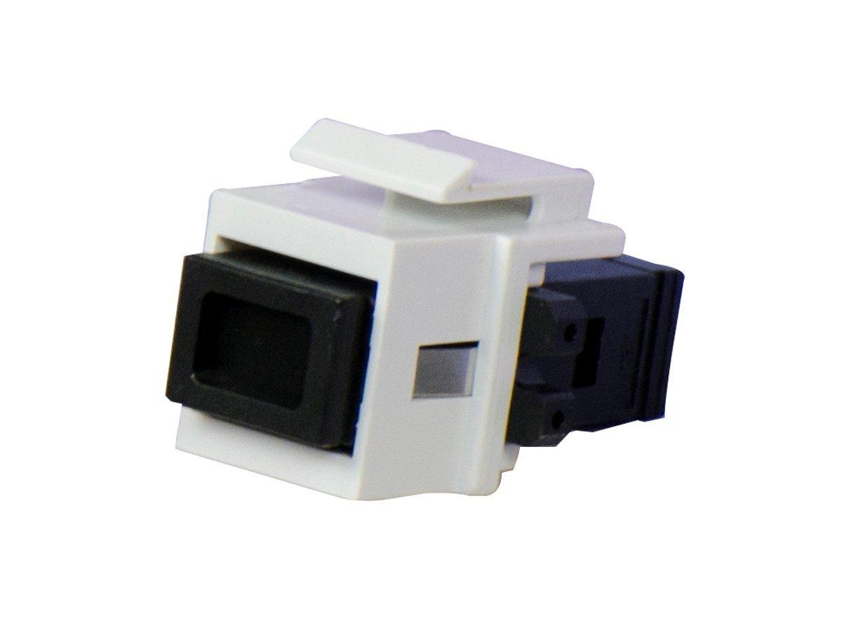 Legrand - On-Q WP1211WH MTRJ Multimode Phosphor Bronze Sleeve Fiber Optic Connector, White