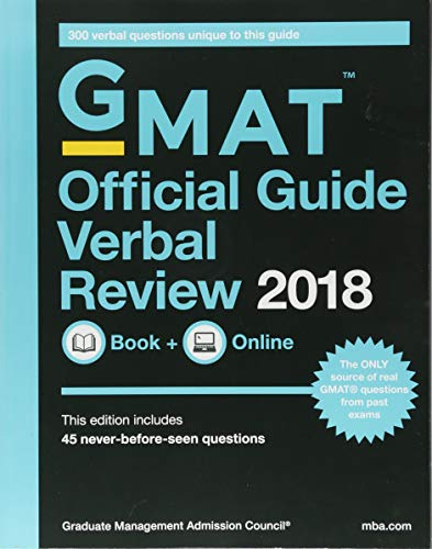 GMAT Official Guide 2018 Verbal Review: Book + Online (Official Guide for Gmat Verbal Review)