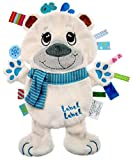 Label Label Friends Pauley Polar Bear Silky Comfort Mini Grasp and Soothe Taggie Blanket