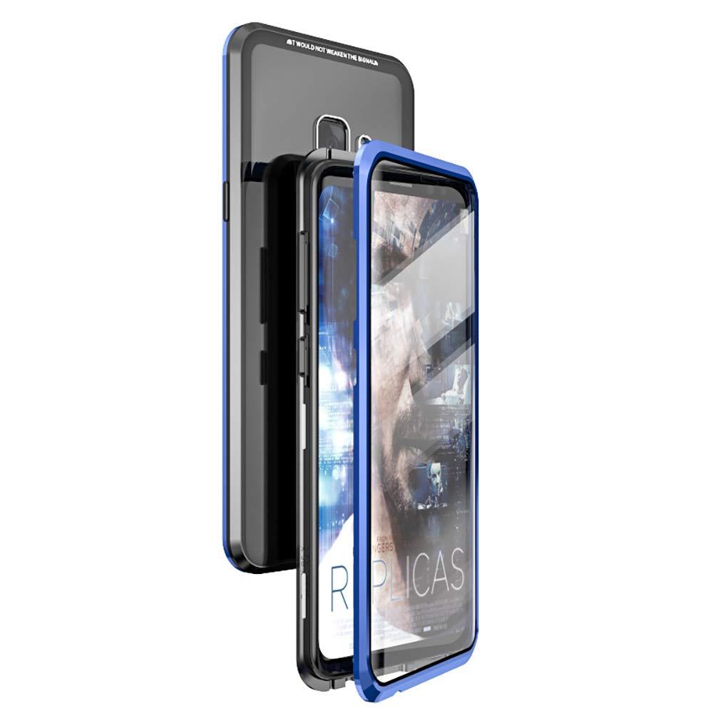 Funda Magnetica Para S9plus Zakon - Negra + Azul