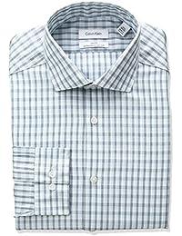 Calvin Klein Men's Non Iron Slim Fit Arrow Print Spread...