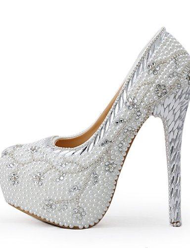 GGX/Damen Schuhe Stiletto Heel Heels Heels Hochzeit/Party & Abend/Kleid Weiß 5in & over-us5 / eu35 / uk3 / cn34
