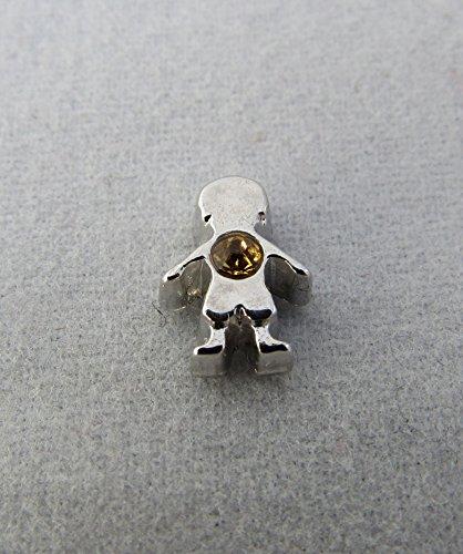 Birthstone Boy November Floating Charm / Add to Your Origami Owl Locket ()